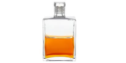 Die Aura-Soma Flasche B120, Klar über Orange